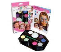 Краски для грима в наборе Snazaroo Girls hanging palette kit, 8х2 мл