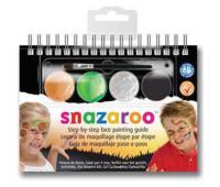 Краски для грима в наборе Snazaroo HALLOWEEN, 4 краски + 1 кисть