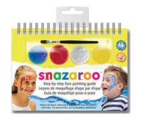 Краски для грима в наборе Snazaroo UNISEX, 4 краски + 1 кисть