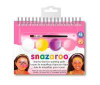 Краски для грима в наборе Snazaroo SUMMER, 4 краски + 1 кисть