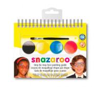 Краски для грима в наборе Snazaroo SUNGLAS, 4 краски + 1 кисть