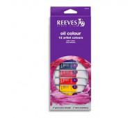 Масляные краски Reeves Oil colour Set, 12 цветов, 10 мл