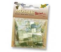 Мозаика, Folia мраморная Marbled assortments 45 гр, 10x10 мм (190 шт), №03 Green (Зеленый)