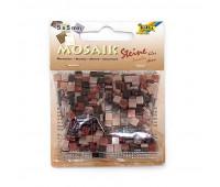 Мозаика, Folia мраморная Marbled assortments 45 гр, 5x5 мм (700 шт), №04 Brown (Коричневый)