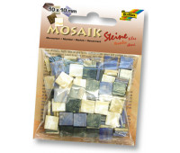 Мозаика, Folia мраморная Marbled assortments 45 гр, 10x10 мм (190 шт), №02 Blue (Синий)